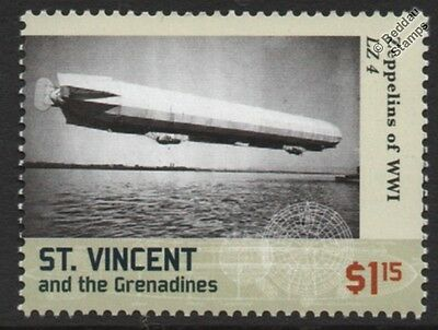 WWI Luftschiff Zeppelin LZ.4 C-Class Experimental German Airship Stamp