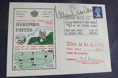 Dawn First Day Cover 1973 Hereford United 1st D3 signed Colin Addison SHS DC1T6