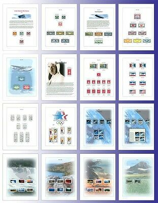 US Airmail Stamp Album Pages (placement for US C1-C150)