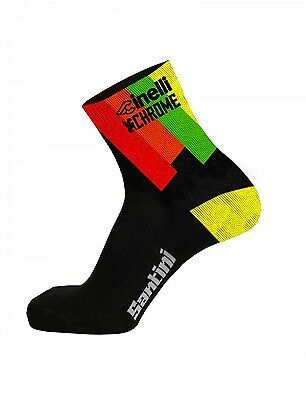 2017 Cinelli Chrome Cycling Socks - made in Italy by Santini