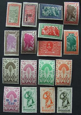17 mint Madagascar stamps