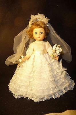 "1950's Vintage Madame Alexander 8"" Wendy-Kins ""bride Doll"" Bent Knees All Orig"