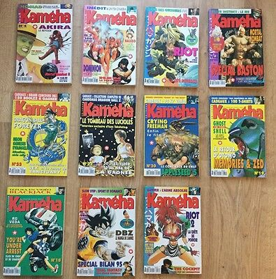 Lot De 11 Magazines  vintage Manga Kameha Glenat dragon ball 1994 - 1996
