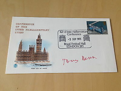 Tony Benn First Day Cover signed 1975
