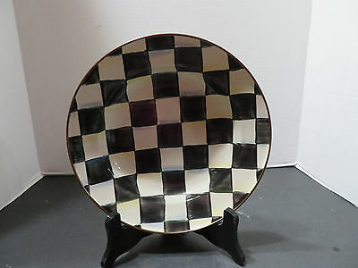 """New~Mackenzie Childs COURTLY CHECK 9"""" Rimmed Dish**FREE U.S. SHIPPING**"""