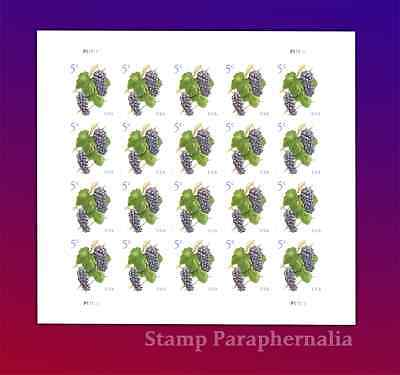 2017 Grapes Pane of 20