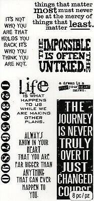 Tim Holtz Clear Stamps - Phrases, Sentiments, Life, Quotes, Sayings
