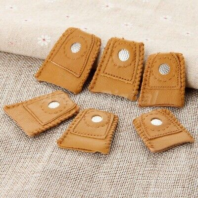 3Size Artificial Leather Finger Thimble Hand Craft Needlework DIY Sewing Kit 2PC