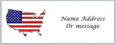 Personalized Return Address Labels US Flag Buy 3 get 1 free (a2)