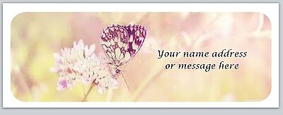 30 Personalized Butterfly Return Address Labels Buy 3 get 1 free (bx 29)