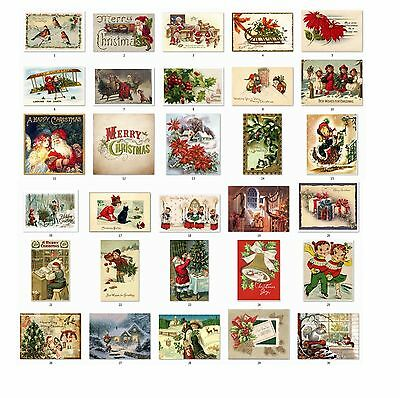 Personalized Return Address Vintage Christmas Labels Buy 3 get 1 free (cs1)