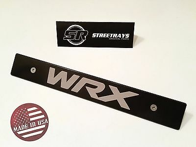 [StreetRays] Black Front License Plate Delete w/ [WRX] Fill Laser Engraved Logo