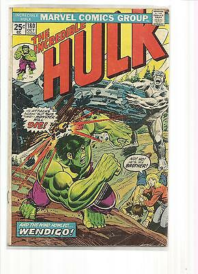 The Incredible Hulk #180 1974 Good To Very Good 3.0 With Stamp