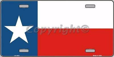 """Texas State Flag Novelty 6"""" x 12"""" Metal License Plate Sign"""