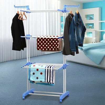 3 Tier Foldable Clothes Airer Laundry Towel Dryer Tower Rack Indoor Outdoor