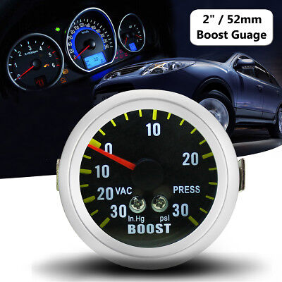 Universal 52mm 2″ Car LED Turbo Boost Vacuum Gauge Meter PSI Carbon Fiber Dials