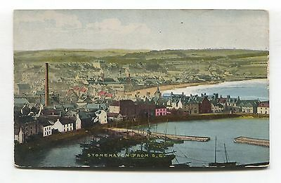 Stonehaven from South East - old Kincardineshire postcard