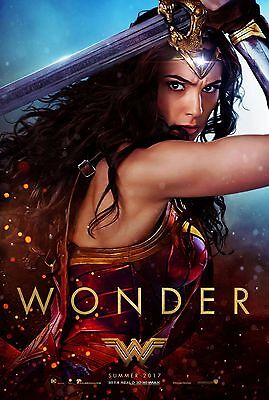 Wonder Woman Laminated  Mini  Movie A4  Poster Gal Godat Style 2