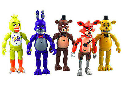 """6"""" Five Nights at Freddy's FNAF Action Figures Bonnie Chica Foxy Bear Set"""