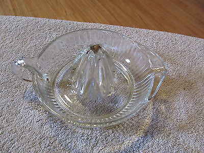 Vintage Anchor Hocking Clear Glass Juicer Reamer 6 Inch Nice Piece