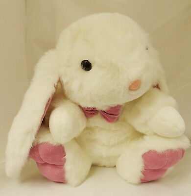 Large White Easter Bunny Rabbit With Bow Child's Soft Toy Comforter 32N