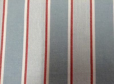 French Barn Stripe Woven Cotton  Curtain/Craft/Upholstery Fabric Blue