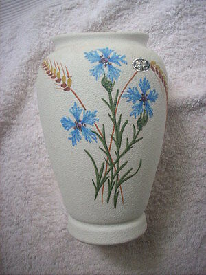 Diana Factory Hand Painted Vase With Original Sticker
