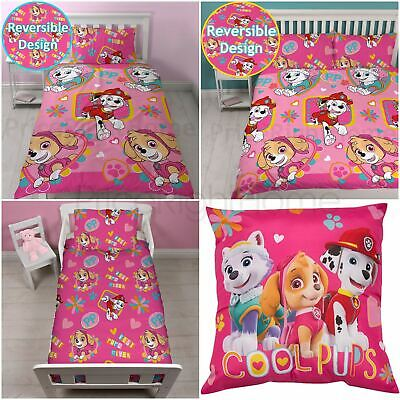 Paw Patrol Forever Duvet Cover Set Girls - Junior, Single, Double & Cushion
