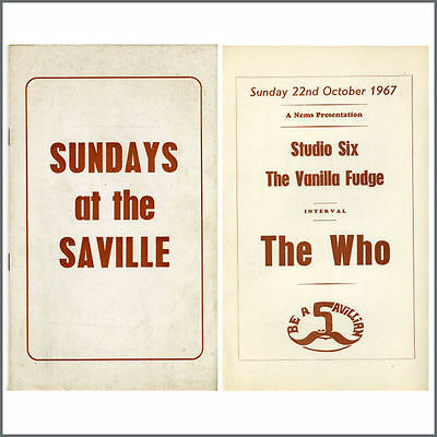 The Who Saville Theatre 1967 Concert Programme (UK)