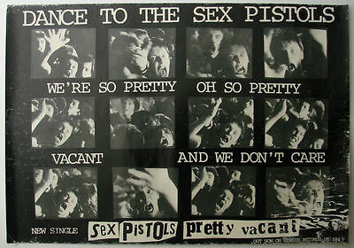 Sex Pistols Pretty Vacant 1977 Promotional Poster (UK)