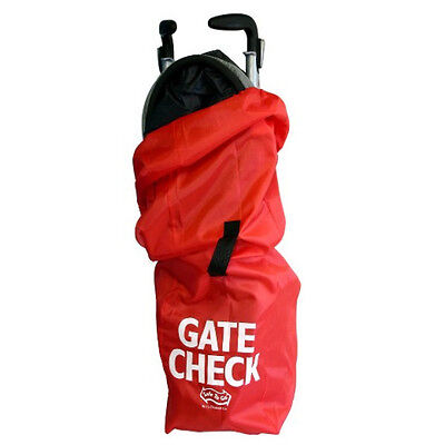Gate Check Stroller Bag Air Travel Cover x Umbrella Pram Protective Pouch - Red