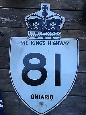 Early Kings Highway Sign 81 Ontario