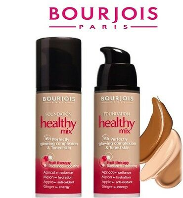 Bourjois Healthy Mix 16H Fruit Therapy Foundation Rare Brand New **choose**
