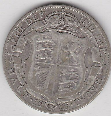 1925 George V Half Crown In Fine To Good Fine Condition