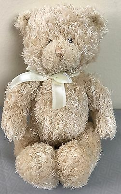 "Baby Gund Buffles 10"" Cream Teddy Bear stuffed animal plush Shaggy Fur 58148"