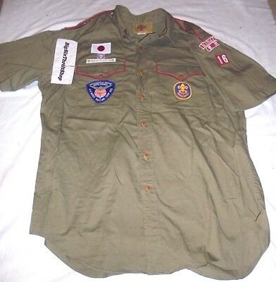 Boy Scouts Nippon Ralph Lauren Uniform Short Sleeve Shirt Tokyo Council S175S