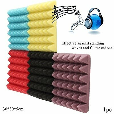 """Pyramid Acoustic Wedge Studio Soundproofing Foam Wall Tiles 12"""" x 12"""" x 2"""" NEW"""
