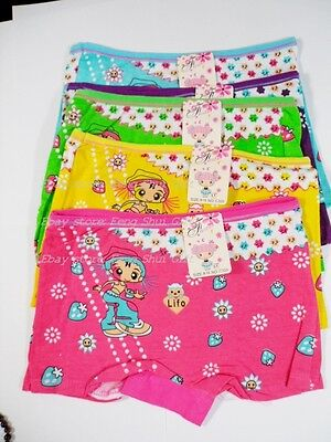 5x Set Pack Girl Pantie Cute Fun Kid Underwear Assorted Boyshorts Characters NEW