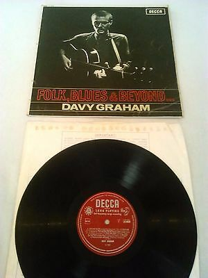 Davy Graham - Folk Blues & Beyond Lp / Rare Uk 1St Press Decca Lk 4649 'poor'