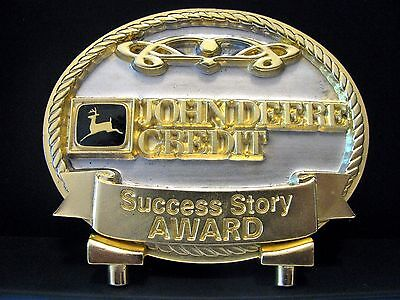 John Deere Credit JDC Success Story Award Medallion Australia Limited Ed w/Stand