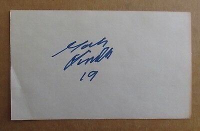 Mats Lindh Signed Autograph 3X5 Index Card Wha Hockey 1975-76 Winnipeg Jets
