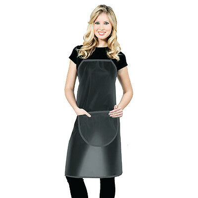 Betty Dain Hair Stylist Jelly Apron Chemical / Water Proof Black 1599