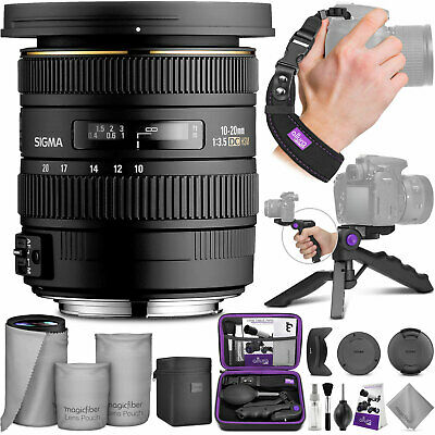 Sigma 10-20mm f/3.5 EX DC HSM ELD SLD Wide-Angle Lens for Canon DSLR with Bundle