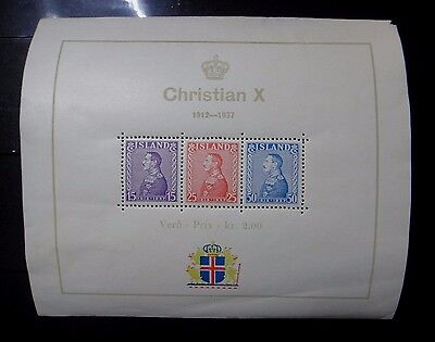 ISLANDE Iceland 1937 Bloc Neuf * Timbres Neufs ** -MH Sheet /MNH Stamps-r47b1171