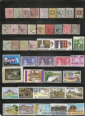 Mauritius, Small Collection of Stamps, Mint And Used, Old And New,Hinged and not