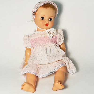 Vintage Horsman 24 Inch Doll, B25 B-25, Sleepy Green Eyes Blonde Hair