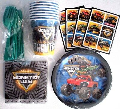 MONSTER JAM - Birthday Party Supply Snack Pack w/ Stickers