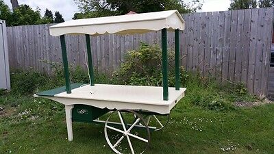 retail barrow with shelves cart sales market stall catering fruit candy cart