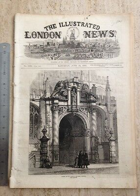 Charles Dickens Obituary. The Illustrated London News. Saturday June 18 1870.