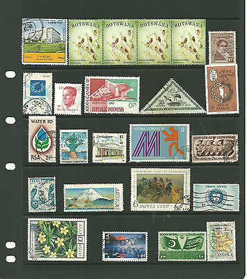 World  5   stock sheets collection stamps  for the collector